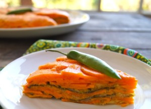 Spicy Serrano-Maple Scalloped Sweet Potatoes