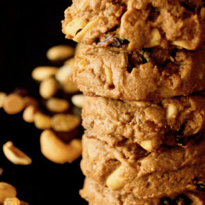Peanut Butter Trail Mix Cookies