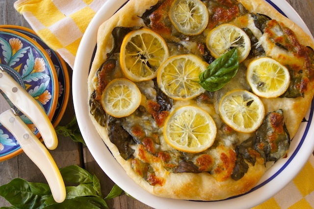 Meyer Lemon Basil Pizza