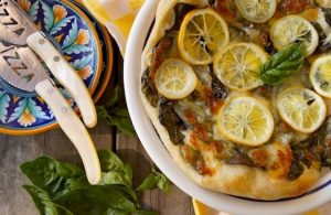 Meyer Lemon Basil Pizza Recipe