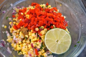 Grilled Chipotle Chicken Recipe with Roasted Pepper Corn Relish