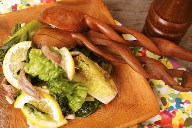 Grilled Romaine Anchovy Salad Recipe