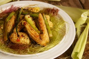 Grilled Chile-Lime Baby Corn Recipe