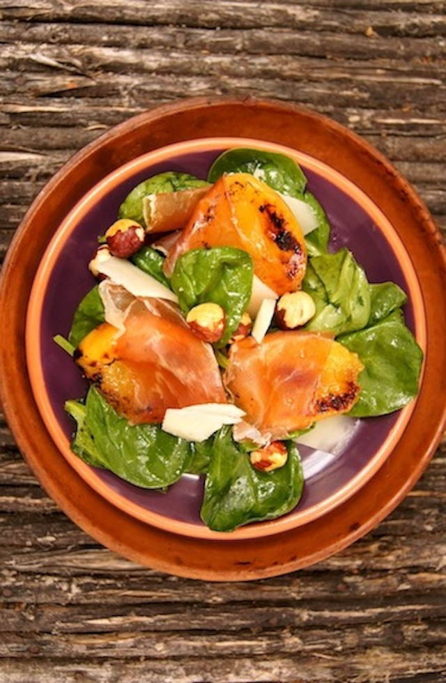 Angelcot and Prosciutto Spinach Salad Recipe