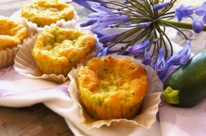 Friday Flowers: Agapanthus and Crustless Zucchini-Gruyère Tartlets
