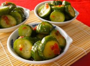 Spicy Pickled Cucumbers Recipe and a Chinese Food Tour