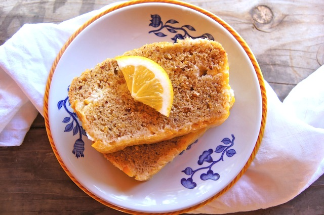 Almond-Meyer Lemon Loaf Cake