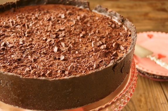 No-Bake Chocolate Espresso Cheesecake