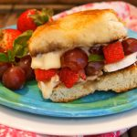 Strawberry-Grape Grilled Cheese with Brie and Lemony Basil
