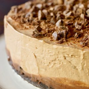 No-Bake Espresso Ganache Cheesecake