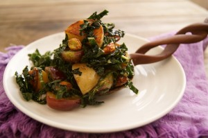 Kale Grape Salad Recipe with Thai Vinaigrette, Potatoes and Honey Glazed Pistachios