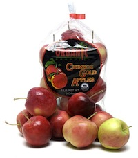 Clear bag filled with Crimson Gold Apples.