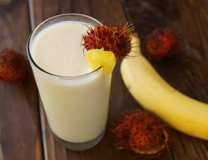 Tropical Smoothie Recipe with Rambutans