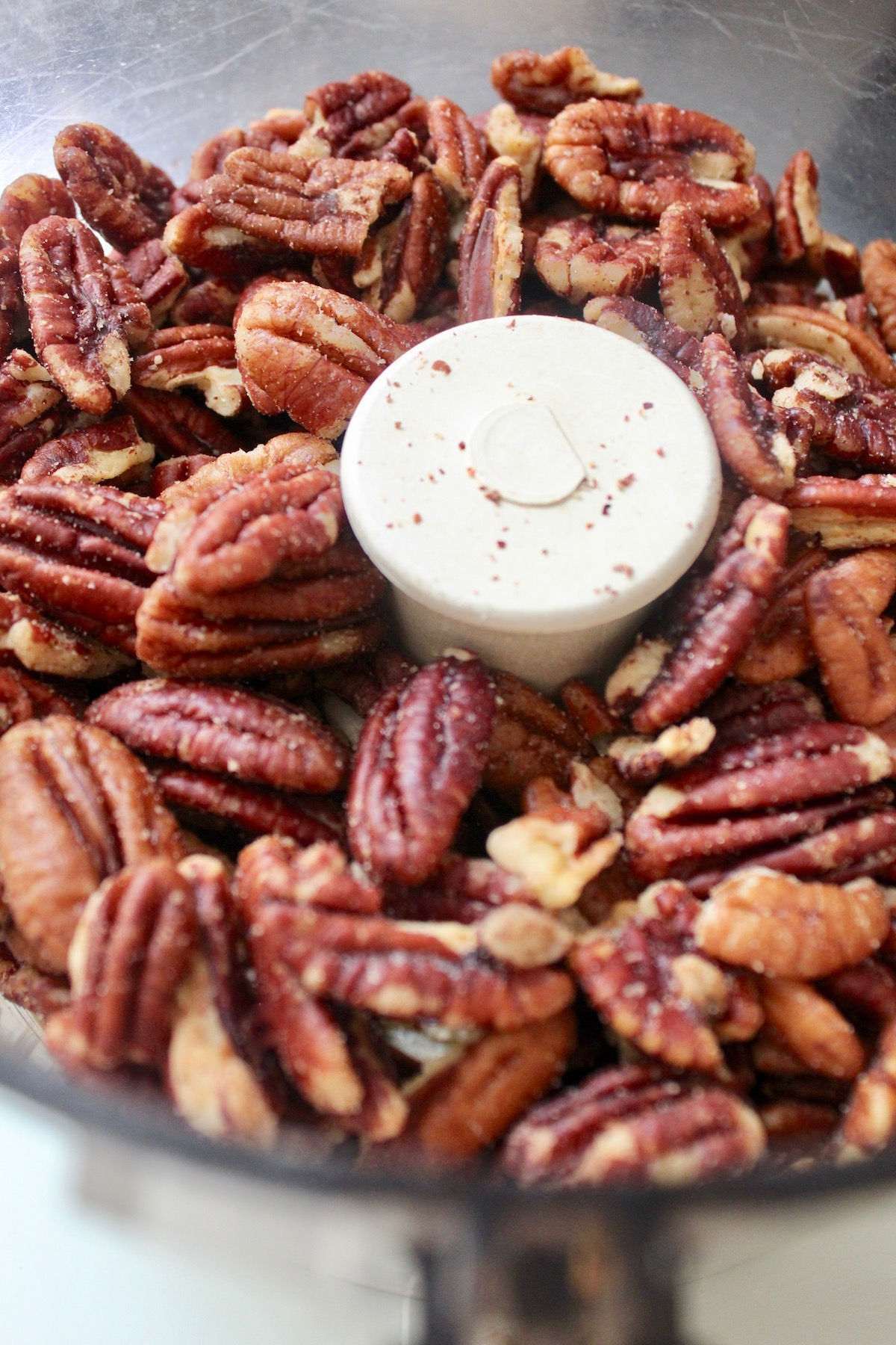 whole pecans in a food processor