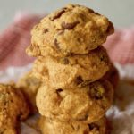 Stack of 4 Easy Peanut Butter Chocolate Chip Cookies