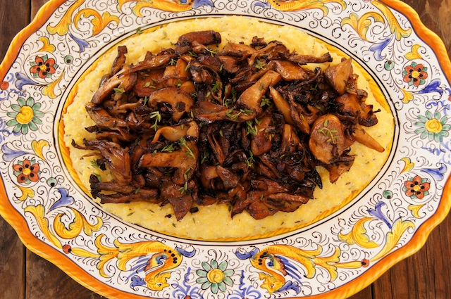 Sherried Wild Mushrooms with Creamy Parmesan Polenta