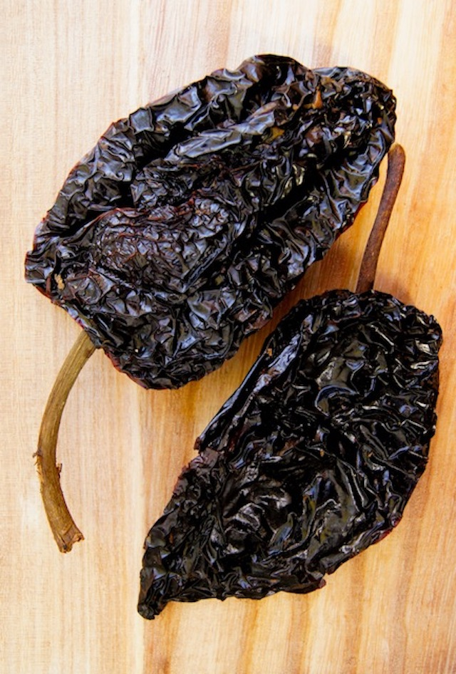 two dried ancho chiles for Ancho Chile Enchilada Sauce Recipe