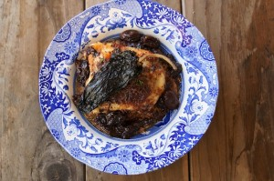 Ancho Chile-Red Wine Grape Roasted Chicken and Quinoa on http://cookingontheweekends.com #chickenrecipes