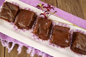 Flourless Chocolate-Espresso Caramel Brownie recipe on http://www.cookingontheweekends.com #glutenfreedesserts #chocolate