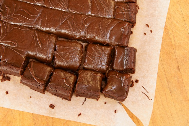 Flourless Chocolate-Espresso Caramel Brownies Recipe