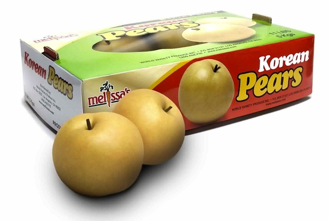 Korean Pears in box from Melissas Produce