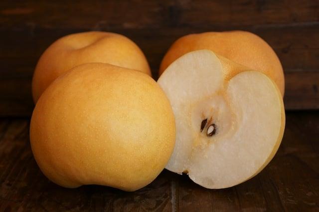 Korean Pears sliced in half