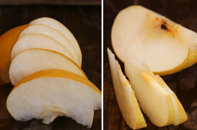 Korean Pears sliced thinly