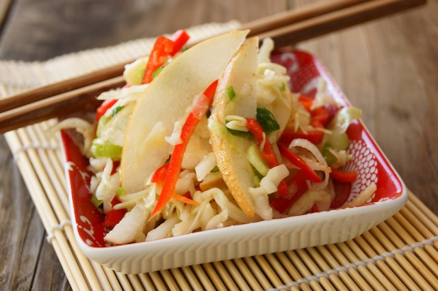 Asian-Style Slaw Recipe with Korean Pears