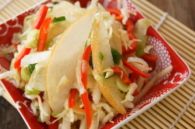 Asian-Style Slaw with Korean Pears