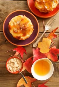 Honey-Glazed Korean Pears in Wonton Crisps with Honey-Cinnamon Mascarpone
