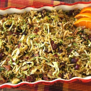 Thanksgiving Sides: Prosciutto Cranberry Brussels Sprouts Recipe