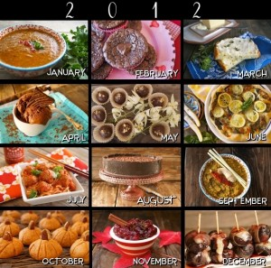12 MOST POPULAR RECIPES OF 2012