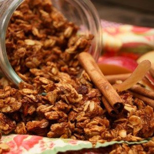 Apple Roasted Cinnamon Granola Recipe