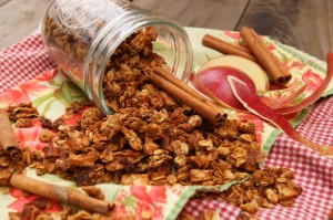 Apple Roasted Cinnamon Granola | Cooking On The Weekends