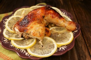 Simple Honey-Lemon Roasted Chicken | Cooking On The Weekends