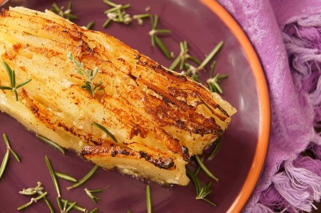 Rosemary Apple Potatoes - Pavé Style