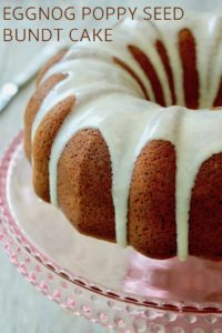 Eggnog Bundt Cake Recipe with Poppy Seeds