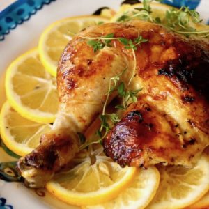 Simple Honey-Lemon Roasted Chicken Recipe