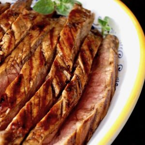 Grilled Coffee Balsamic Flank Steak Recipe