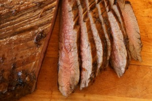 Grilled Coffee Balsamic Flank Steak | Cooking On The Weekends www.cookingontheweekends.com
