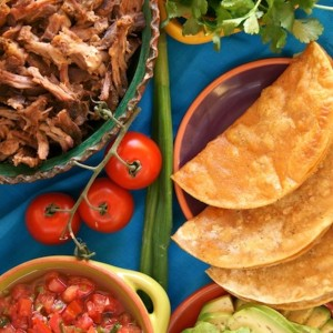 Perfect Pulled Pork Recipe . . . in a Taco with Pickled Tomatoes