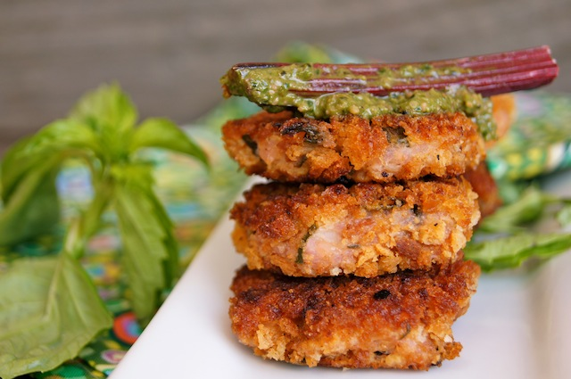 Risotto Cakes With Pesto Recipe — Dishmaps