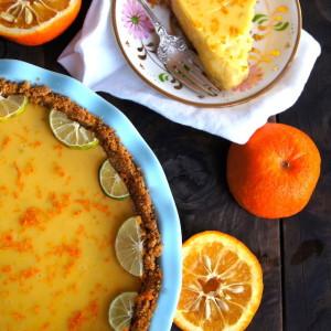 Seville Orange-Key Lime Pie with Cardamom Crust