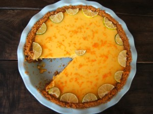 Seville Orange-Key Lime Pie with Cardamom Crust | Cooking On The Weekends