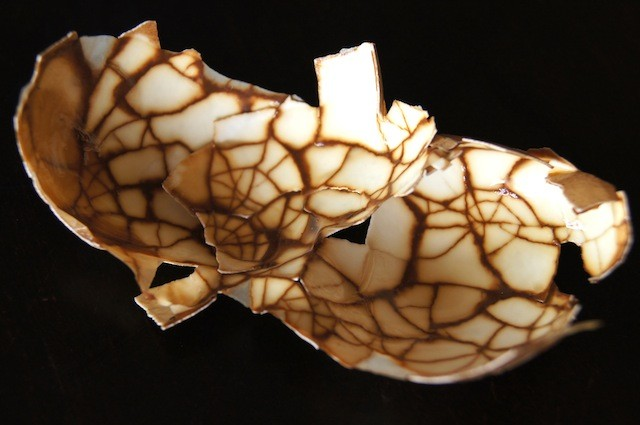 cracked chinese tea egg shell