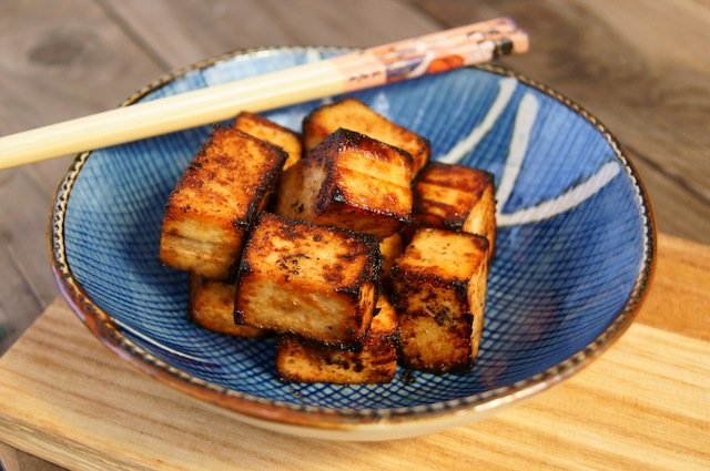 Miso Garlic and Ginger Tofu
