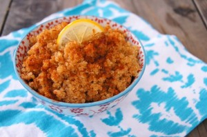 Smoky Lemon Paprika Quinoa Recipe | Cooking On The Weekends