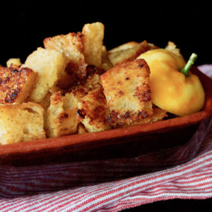 Lemon-Garlic Crouton Recipe