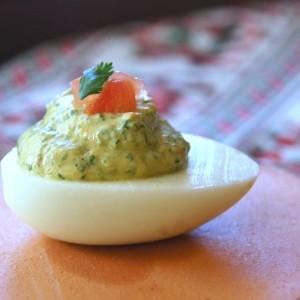 Cinco de Mayo Recipes: Spicy Cilantro Deviled Eggs