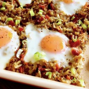 Bacon Hash Brown Casserole with Eggs